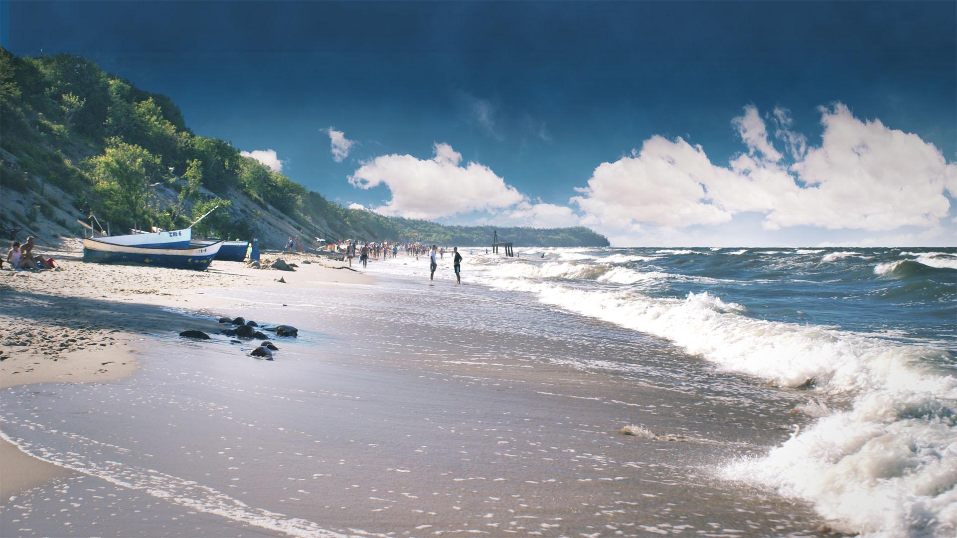 Plaża w Chłapowie